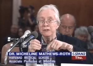 Dr. Micheline Mathews-Roth testifies before congress